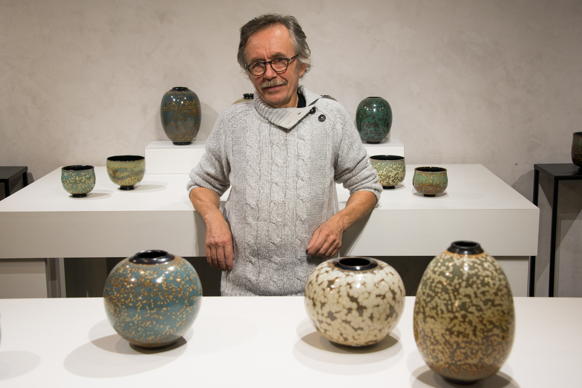 """Galerie Barina - Grès émail """"Nucléation"""""""